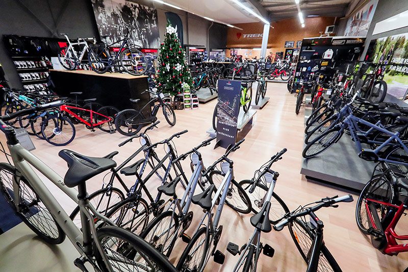 Showroom du magasin de vélo Trek Bicycle Store de Quimper